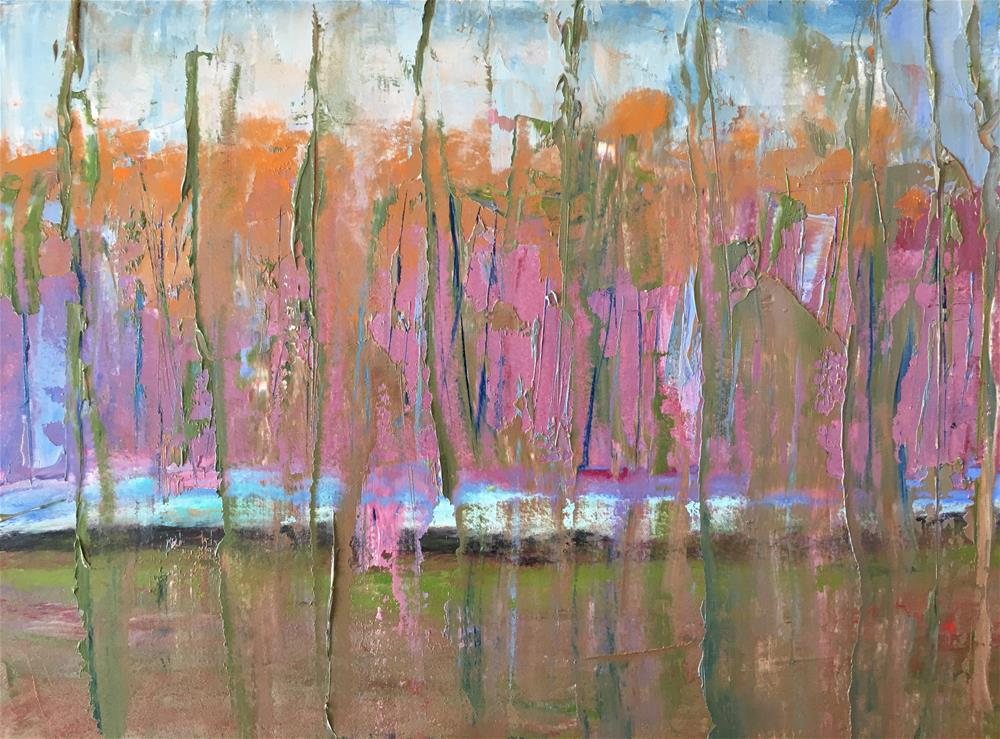 """Abstract autumn landscape"" original fine art by Christine Parker"