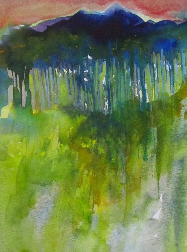 """Dusk"" original fine art by Patricia MacDonald"