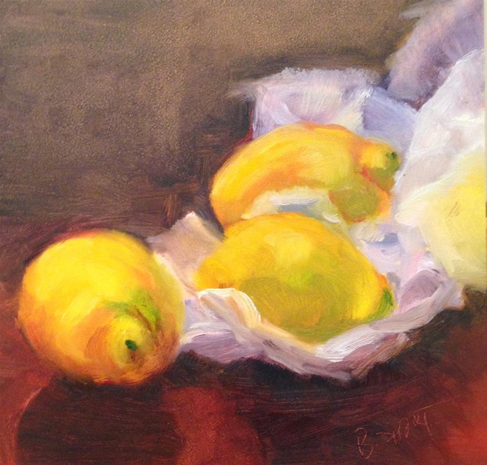 """""""day8; lemons"""" original fine art by Brenda Short"""