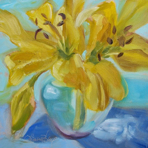 """""""Looking Forward to Spring 316"""" original fine art by Laura  Buxo"""