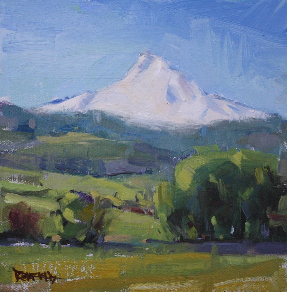 """Mt Hood Plein Air"" original fine art by Cathleen Rehfeld"