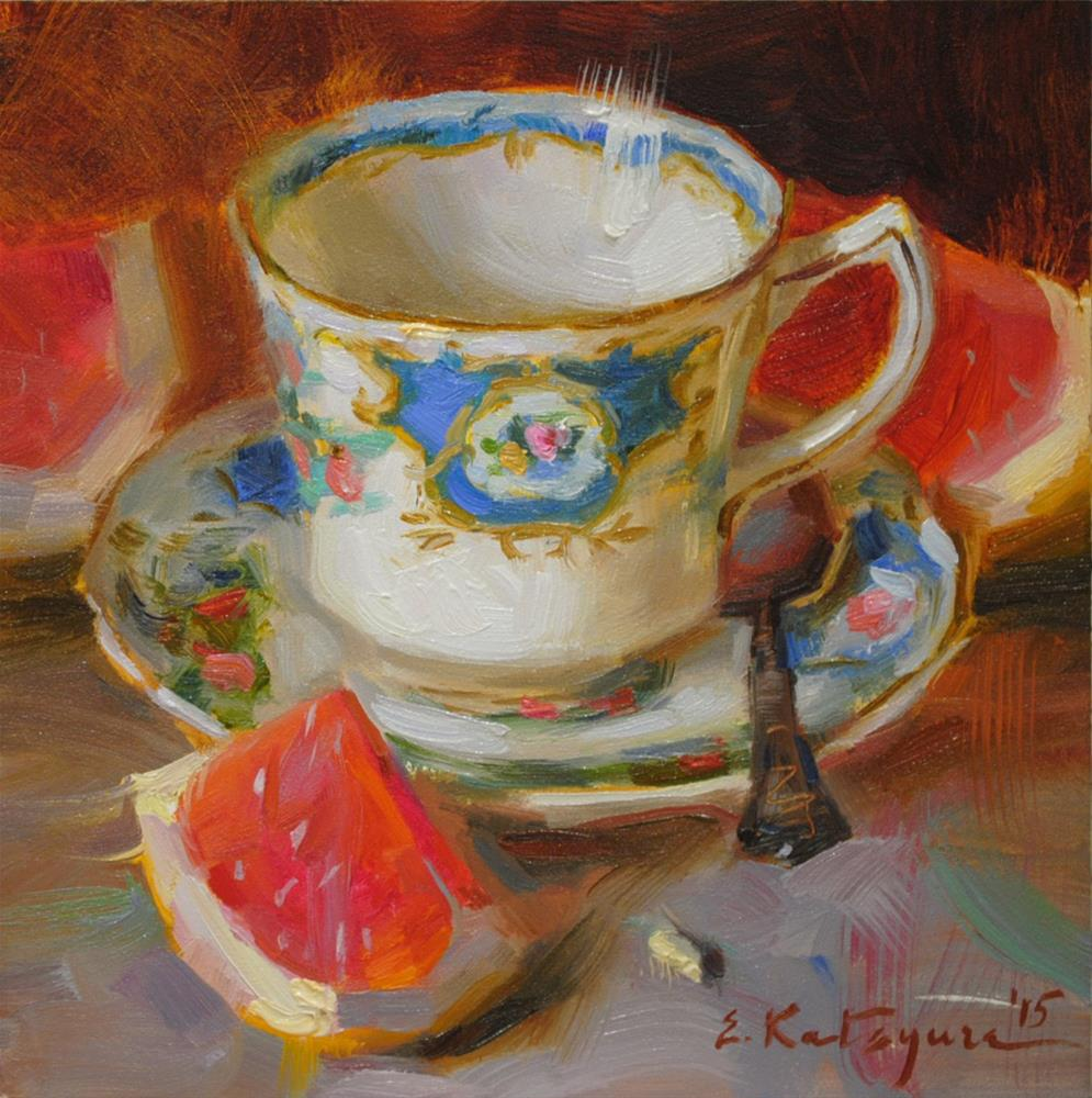 """Red Citrus"" original fine art by Elena Katsyura"