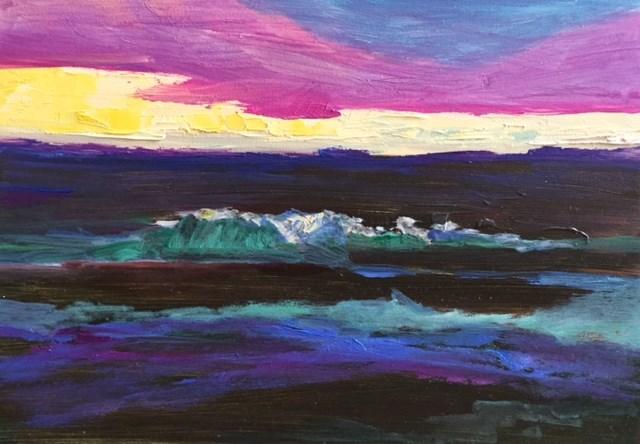 """Rough Surf Sarasota"" original fine art by Angela Hansen"