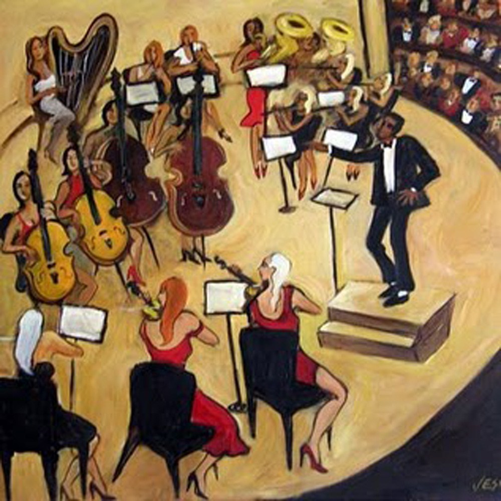 """The Orchestra"" original fine art by Valerie Vescovi"