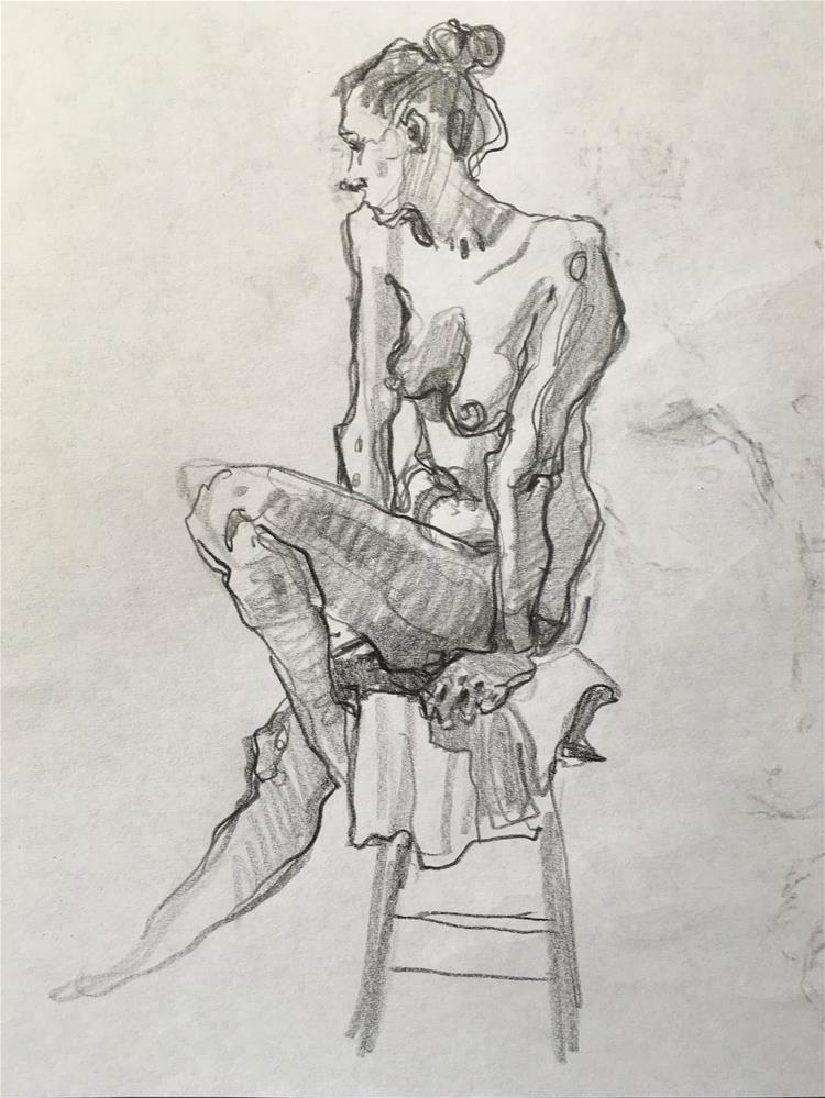 """Figure58"" original fine art by Katya Minkina"