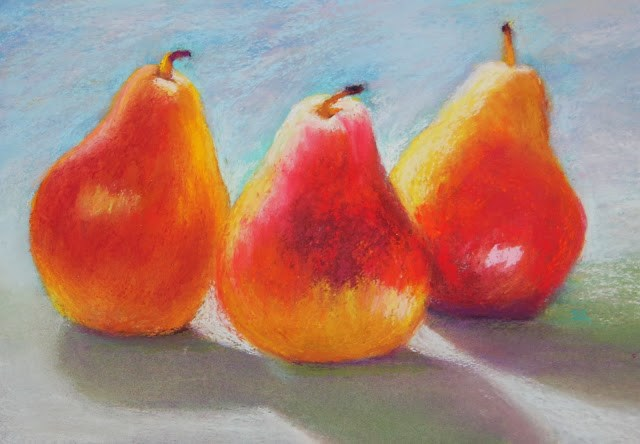 """Sunlight and Pears"" original fine art by Sharon Lewis"