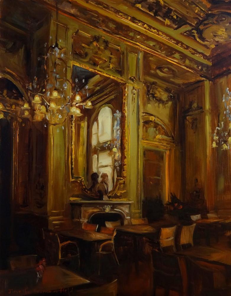 """""""Louvre Cafe"""" original fine art by Jonelle Summerfield"""