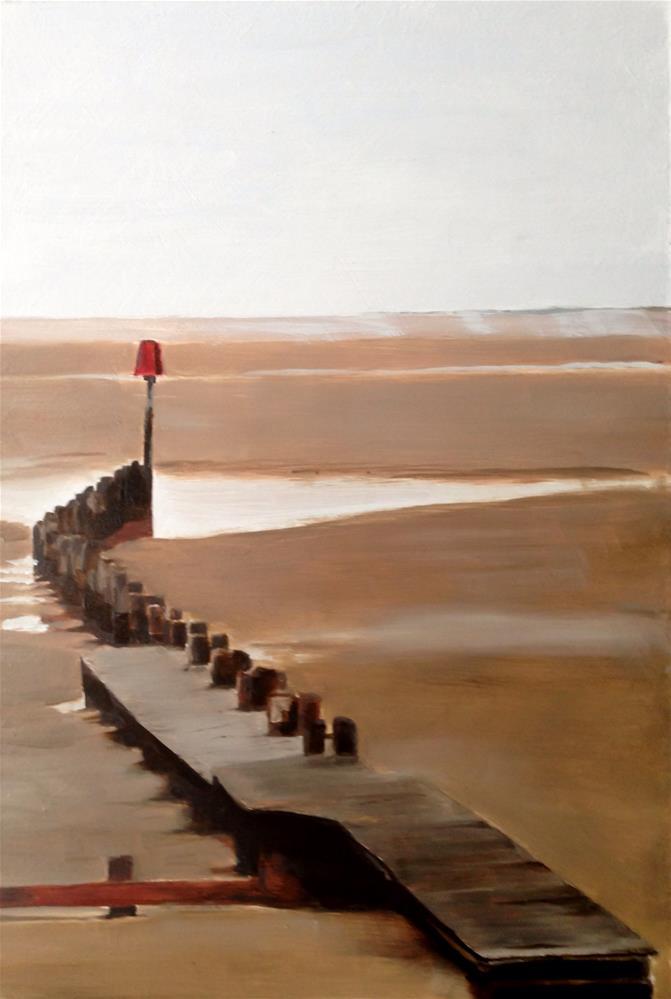 """""""A Pier"""" original fine art by James Coates"""