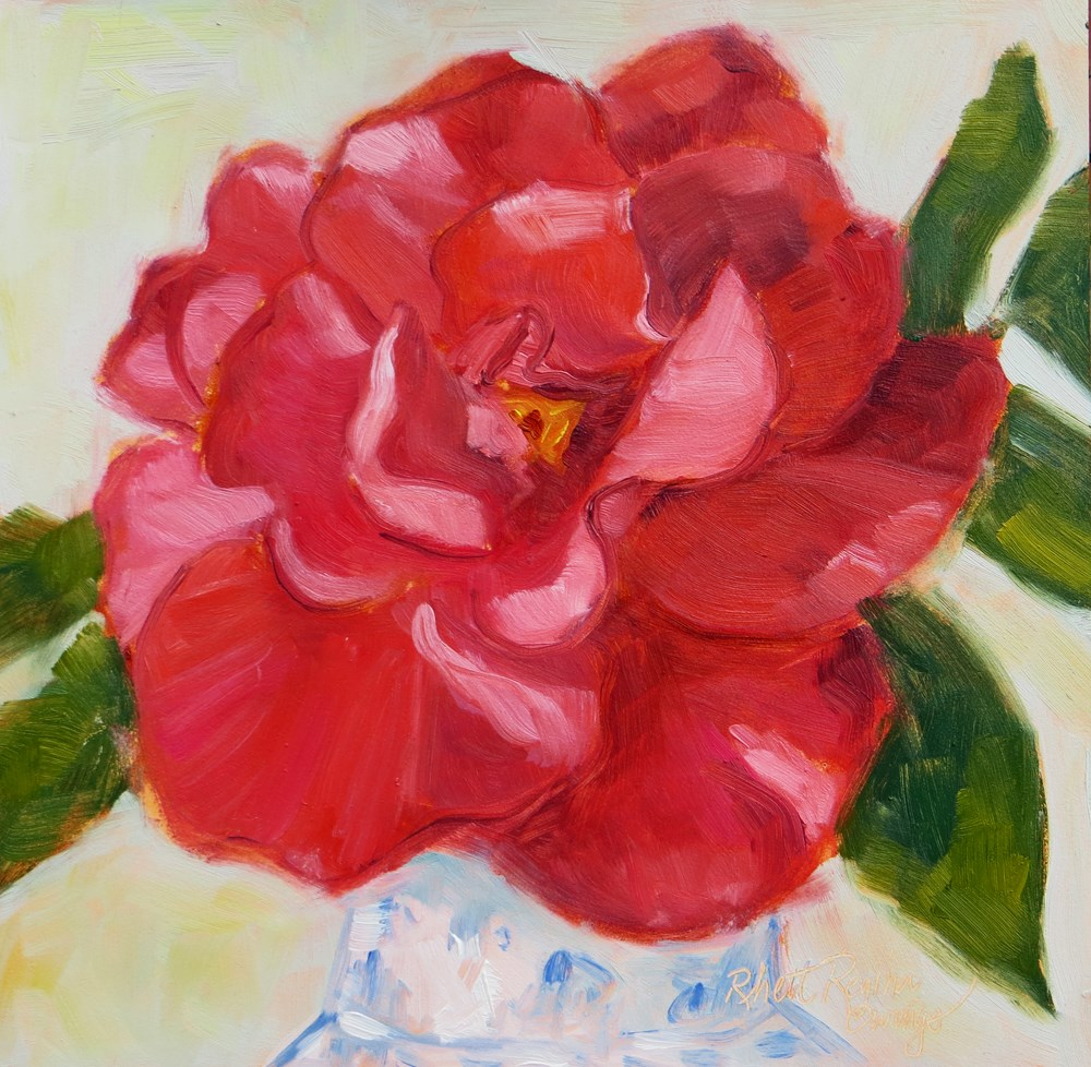 """Dee Dee's Rose"" original fine art by Rhett Regina Owings"