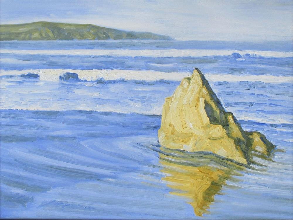 """View Point - Dillon's Beach"" original fine art by Kim Victoria"
