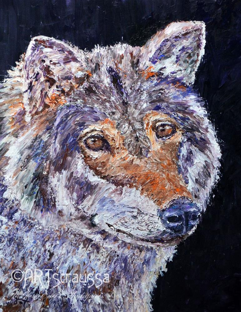 """Norwegian Wolf"" original fine art by Gloria Ester"