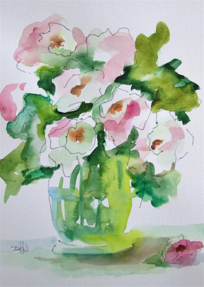 """Flowers in a Vase"" original fine art by Delilah Smith"