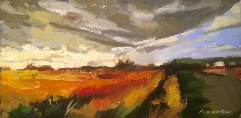 """Farm Sunset"" original fine art by Chris Long"