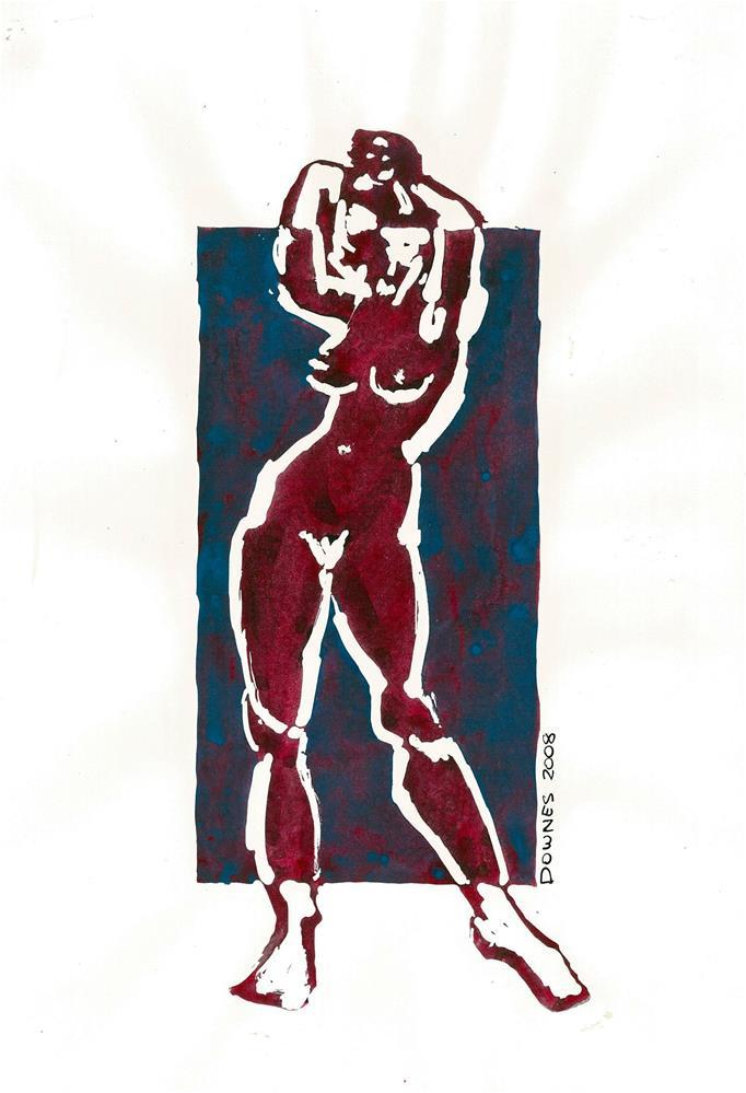 """220 STYLISED LIFE SKETCH 5"" original fine art by Trevor Downes"