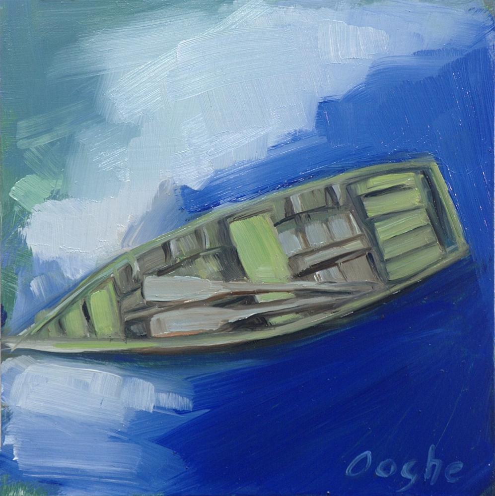 """Drifting Boat"" original fine art by Angela Ooghe"