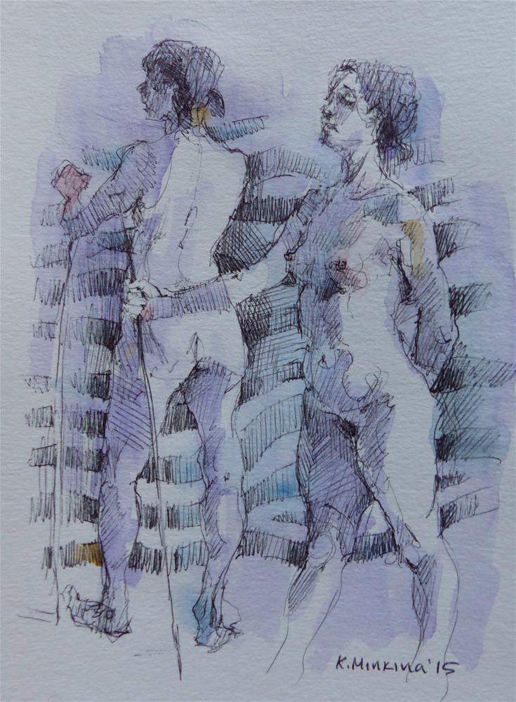 """sketchbook#10"" original fine art by Katya Minkina"
