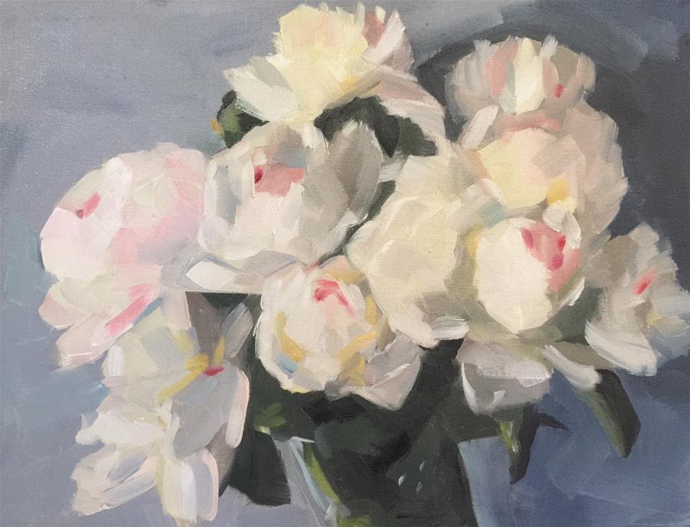 """300 Peonies in a Vase"" original fine art by Jenny Doh"