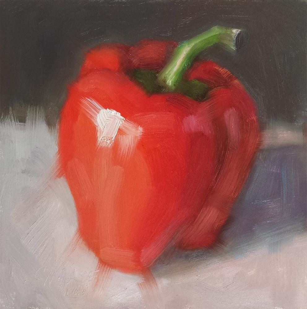 """Red Pepper"" original fine art by Cindy Haase"