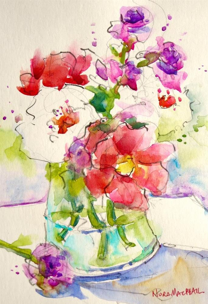"""with a spring in your step"" original fine art by Nora MacPhail"