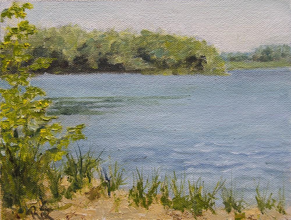 """""""little lake view June 2016"""" original fine art by Rachel Steely"""
