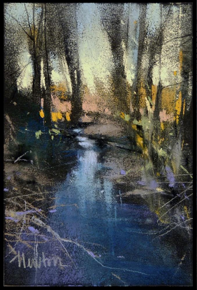 """Winter Creek"" original fine art by Barbara Benedetti Newton"