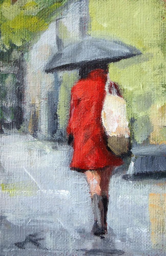 """Rain Walk"" original fine art by J. Farnsworth"
