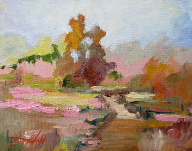 """""""Afternoon Light"""" original fine art by Delilah Smith"""