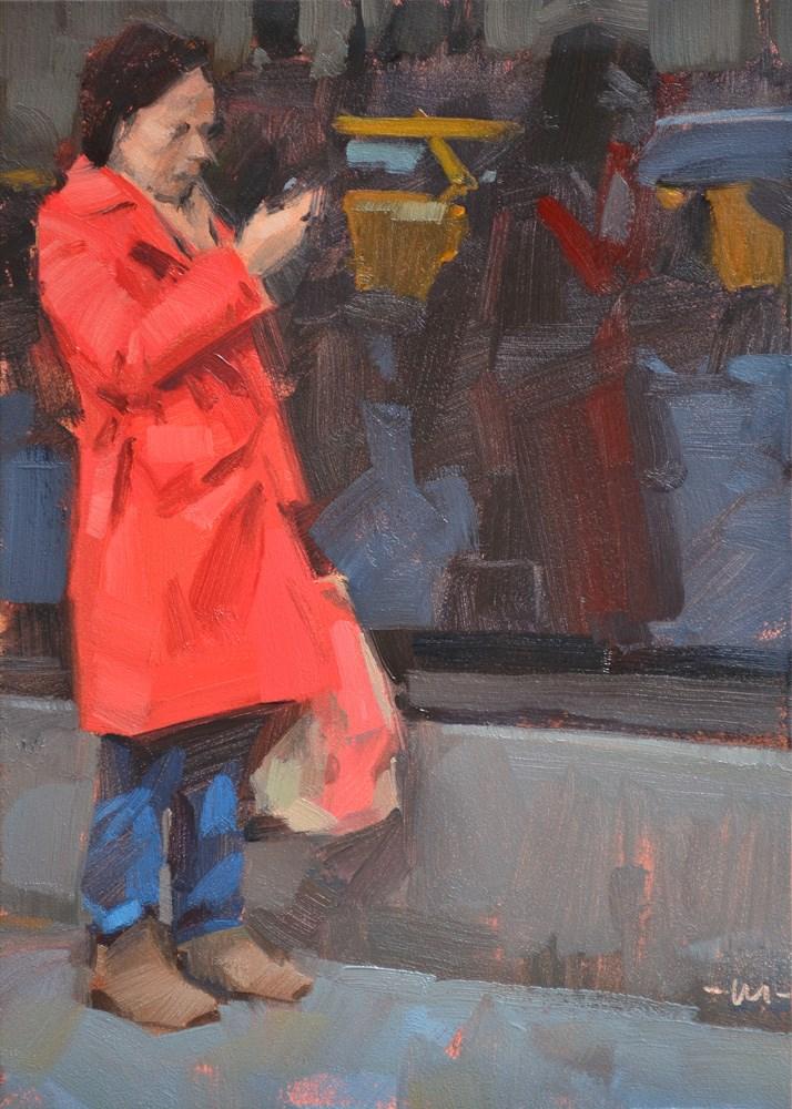 """Out Shopping"" original fine art by Carol Marine"