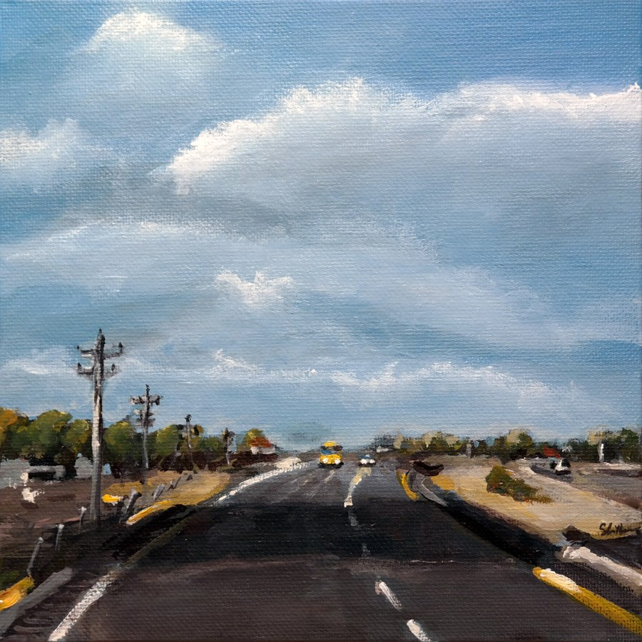 """1117 On the Road"" original fine art by Dietmar Stiller"