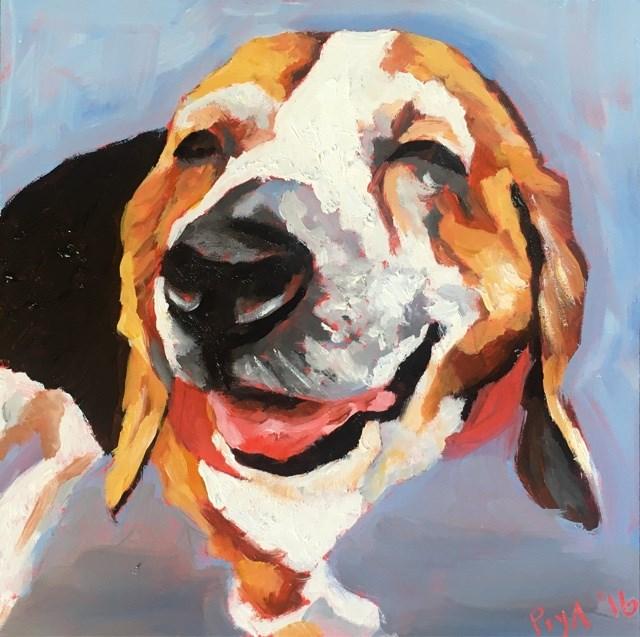 """""""Delia"""" original fine art by Piya Samant"""