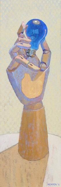 """Handy and Blue Bulb"" original fine art by Nancy Roberts"