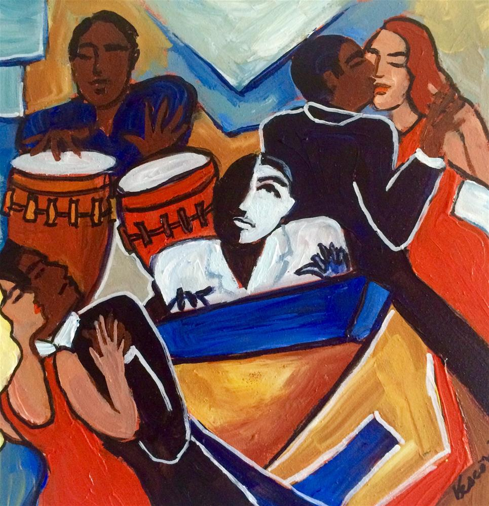 """The Pianist"" original fine art by Valerie Vescovi"