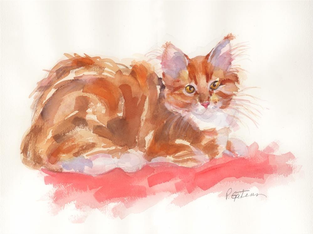 """""""Ginger Girl"""" original fine art by Pamela Gatens"""