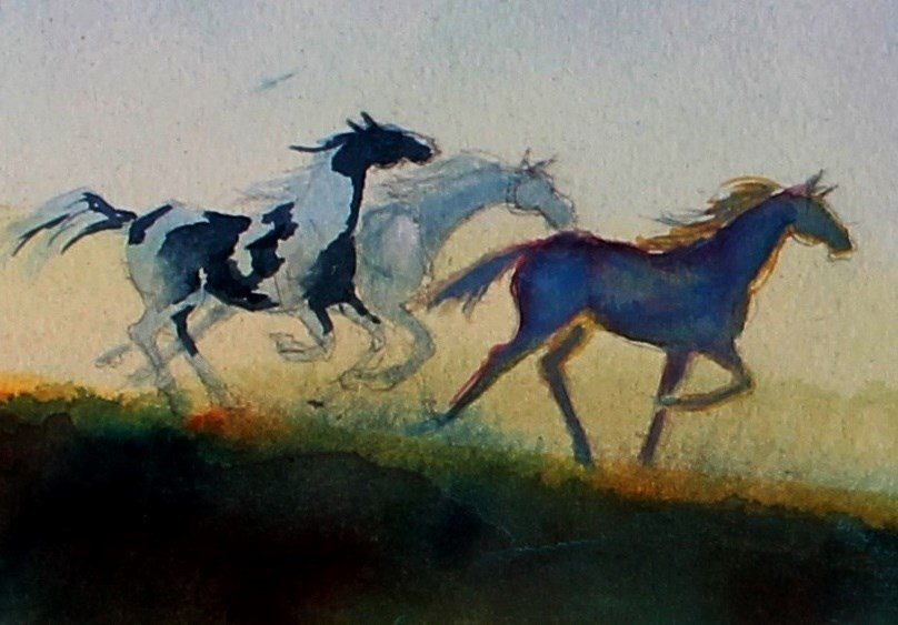 """Roundup"" original fine art by Colleen Drury"