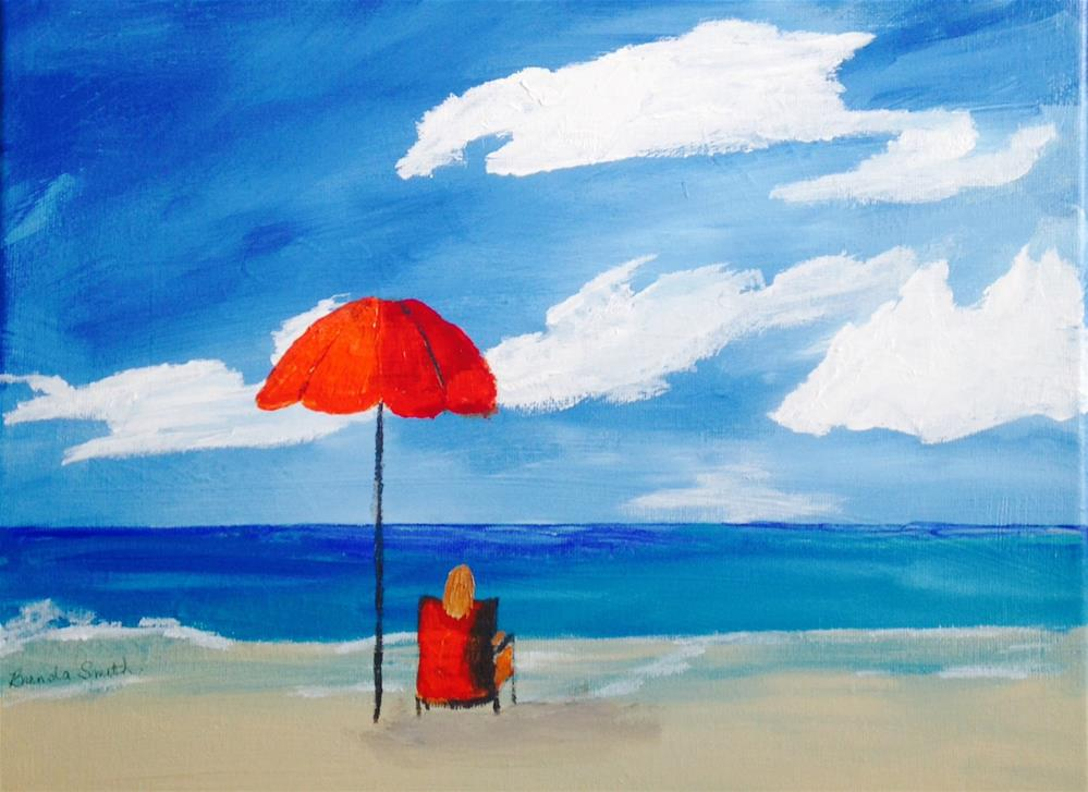 """Relaxation"" original fine art by Brenda Smith"