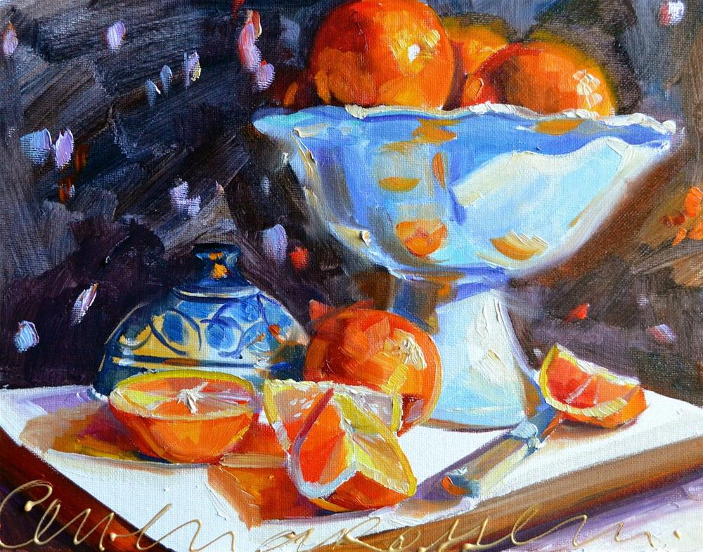 """ORANGE STUDY"" original fine art by Cecilia Rosslee"
