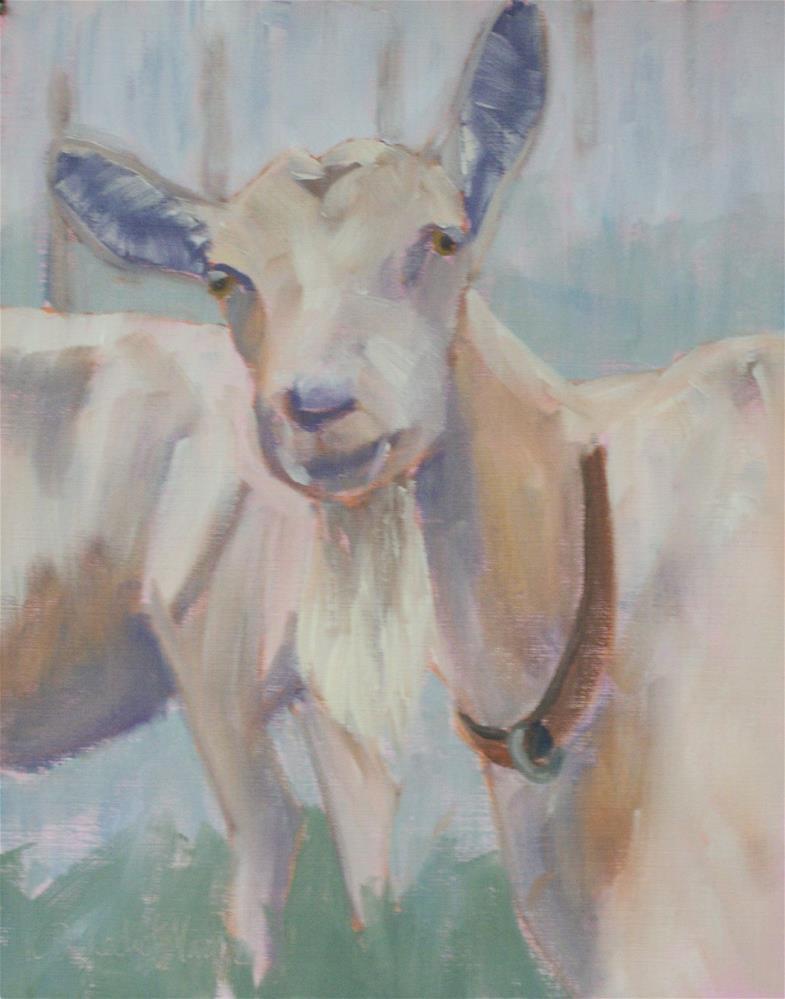 """Foggy Goat"" original fine art by Katharine March"