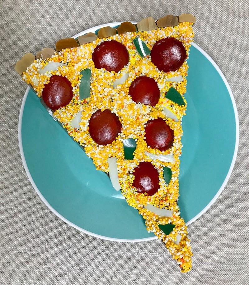 """Pizza Pie"" original fine art by Joetta Currie"