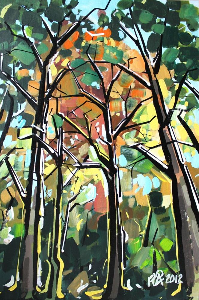 """""""In the forest 7"""" original fine art by Roger Akesson"""