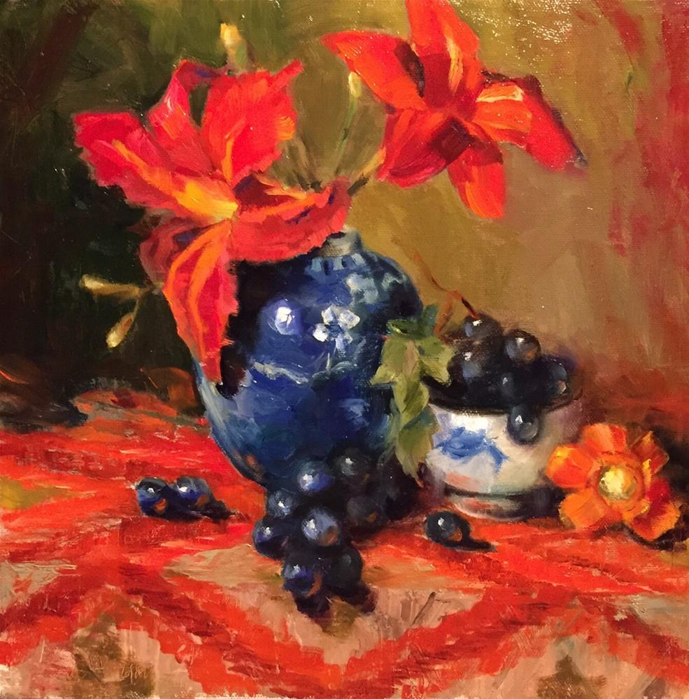 """A Favorite Blue Vase"" original fine art by Barbara Fluty"