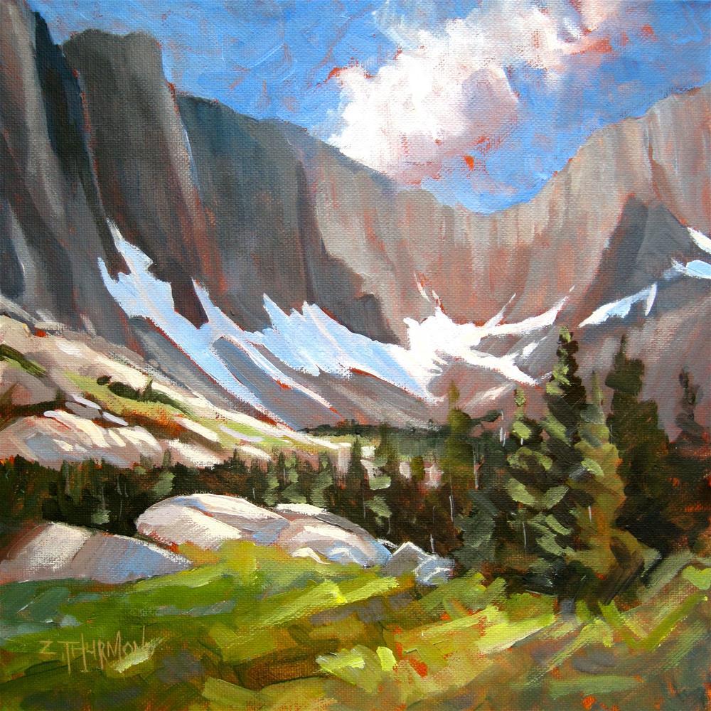 """Wind River Cirque"" original fine art by Zack Thurmond"