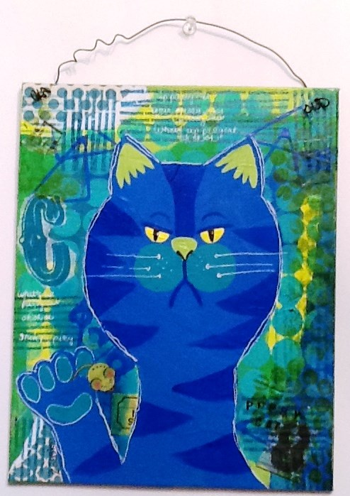 """GRUMPY CAT"" original fine art by Cindy Zoglmann"