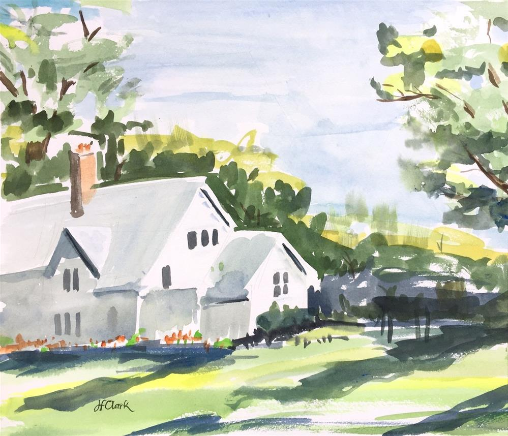 """Elm Bank Cottage, study"" original fine art by Judith Freeman Clark"