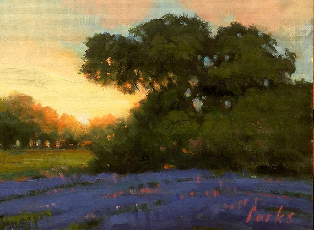 """""""Sundown Oak"""" original fine art by David Forks"""