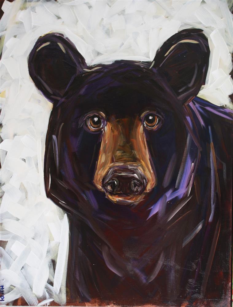 """""""Smokey"""" original fine art by Kandice Keith"""