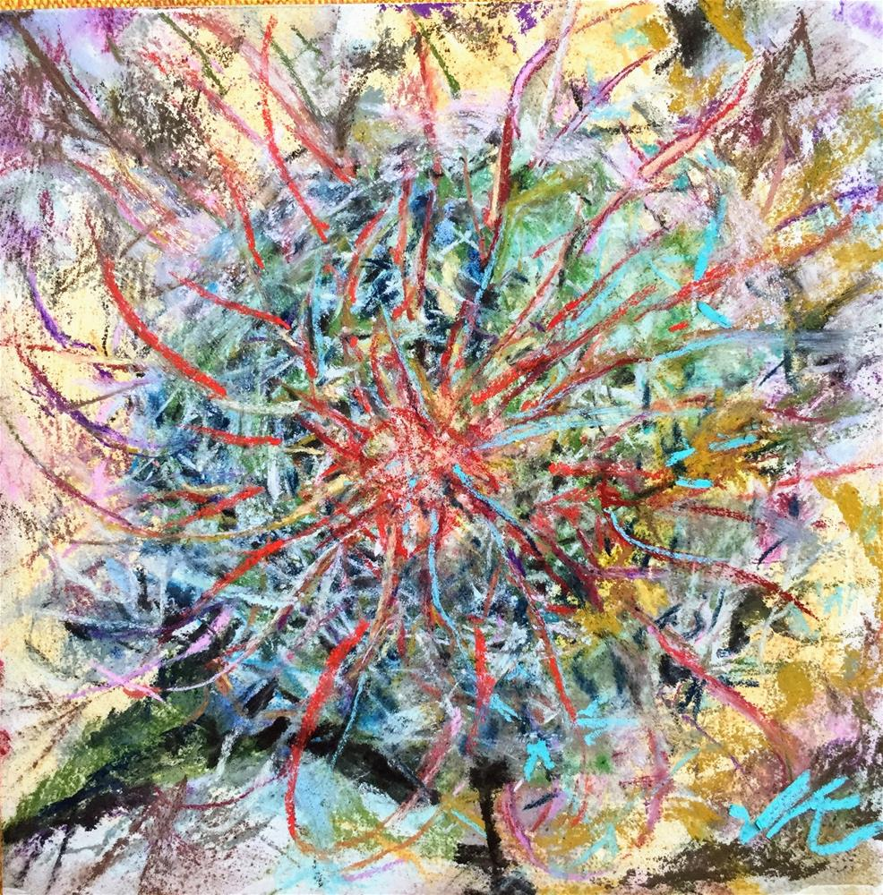 """Colored Cactus"" original fine art by Jean Krueger"