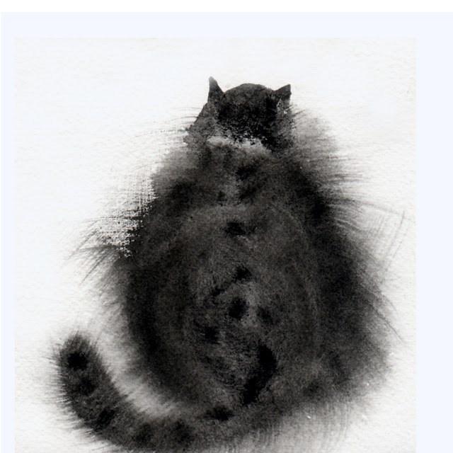 """""""Winter coat"""" original fine art by Mitsuru Cope"""