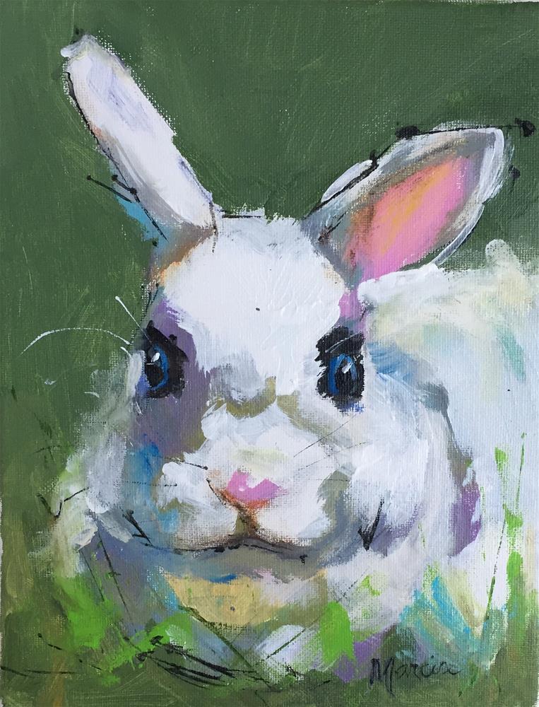 """""""I Am Some Bunny"""" original fine art by Marcia Hodges"""