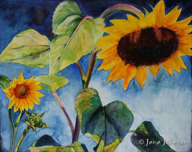 """Salient Sunflowers"" original fine art by Jana Johnson"