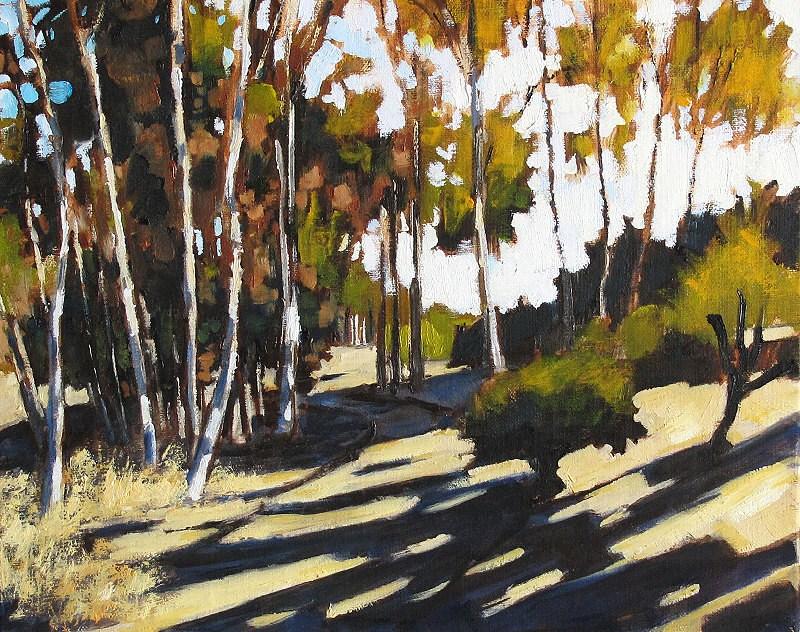 """Autumn Trees, Balboa Park"" original fine art by Kevin Inman"